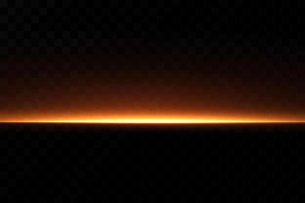 Золотая неоновая линия. световой эффект.