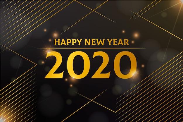 황금 새해 2020 배경