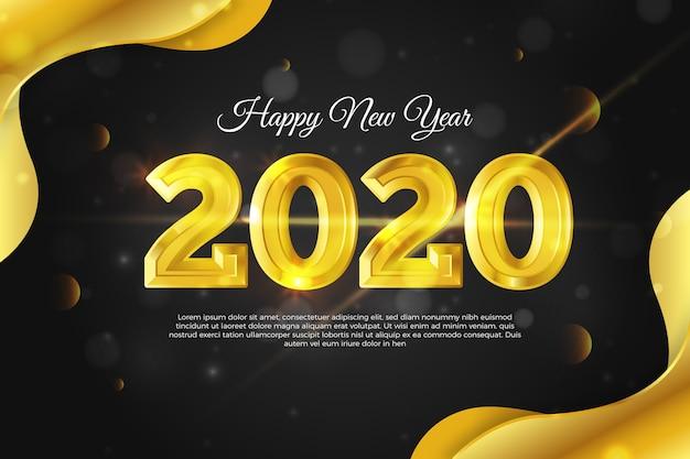 Golden new year 2020 background