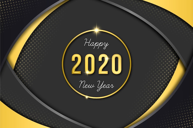 Golden new year 2020 wallpaper