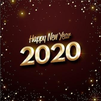 Golden new year 2020 wallpaper
