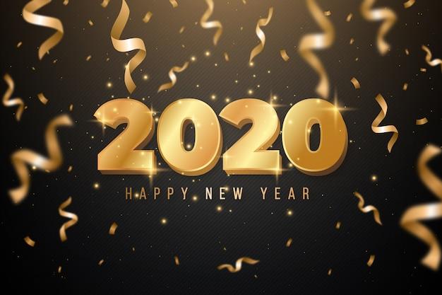 Golden new year 2020