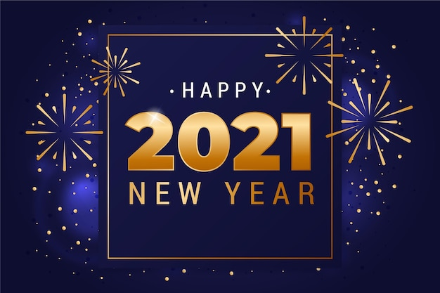 Golden new year 2021 background