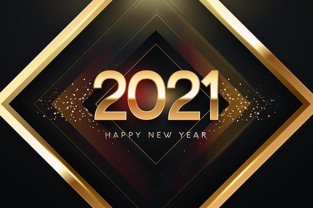 Золотой новый год 2021 фон