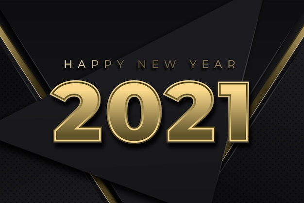 Golden new year 2021 wallpaper