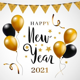 Golden new year 2021