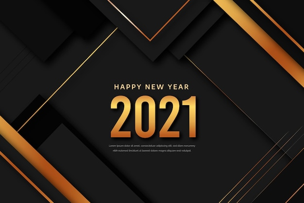 Golden new year background