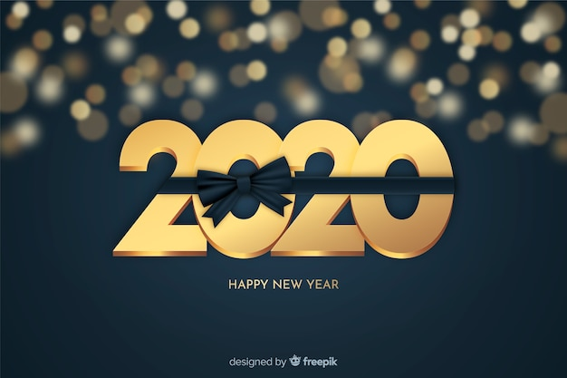 Golden new year beautiful background