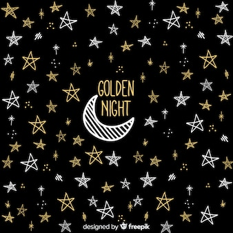 Golden night background