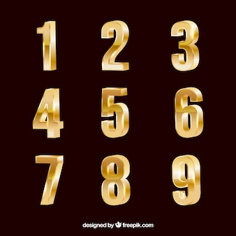 Коллекция золотых номеров