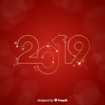 Golden number new year background