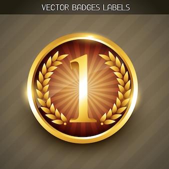 Golden number one label