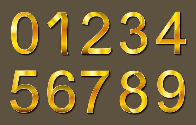 ゴールデン数字のデザイン