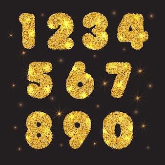 Золотые числа частиц золота