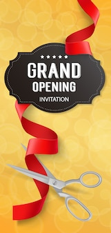 Opening invitation vectors photos and psd files free download golden opening banner stopboris Gallery
