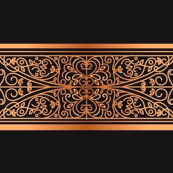 Golden ornamental border concept