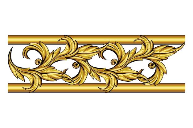 Золотой орнаментальный бордюр