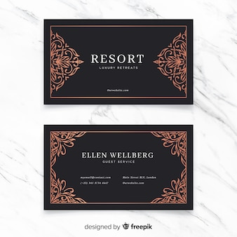 Golden ornamental business card
