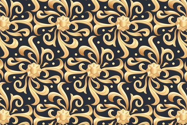 黄金の観賞用の花の背景