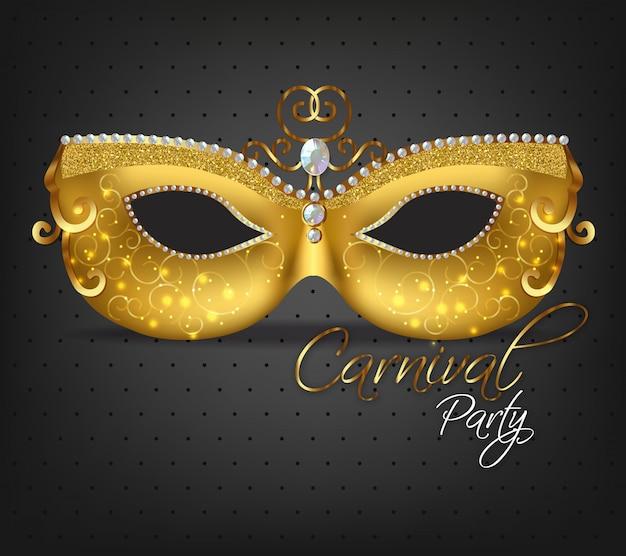 Golden ornamented mask