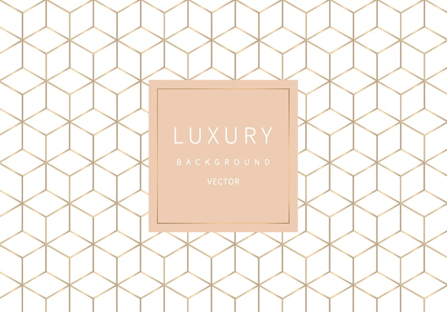 Golden outline geometric seamless pattern. luxury style.
