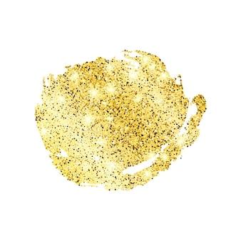 白い背景に金色のペイントきらびやかな背景。ゴールドの輝きとキラキラ効果のある背景。テキスト用の空きスペース。ベクトルイラスト