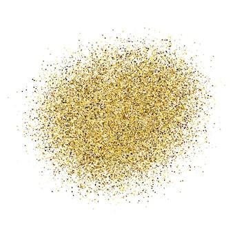 Золотая краска сверкающий фон на белом фоне. фон с золотыми блестками и эффектом блеска. пустое место для вашего текста. векторная иллюстрация