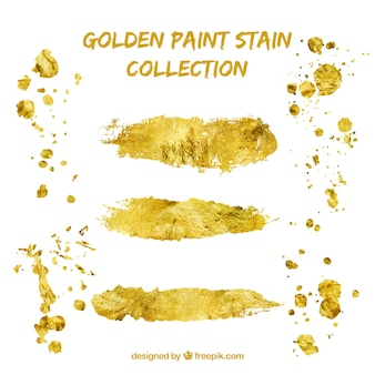 Golden paint stain collection