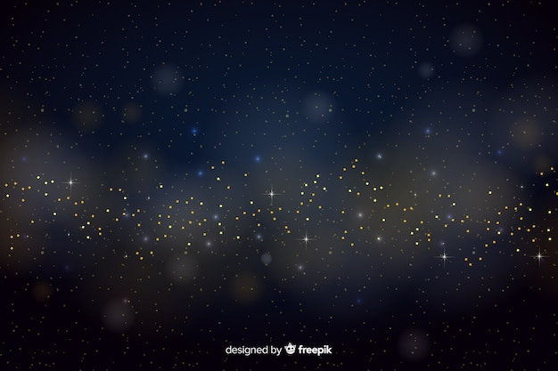 Golden particles background bokeh style