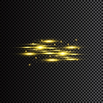 Golden particles. glowing yellow bokeh circles abstract gold luxury