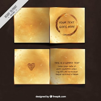 Golden party invitation with bokeh effect