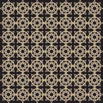 Golden pattern on black background