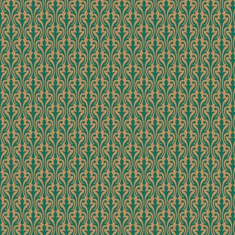 Golden pattern on green background