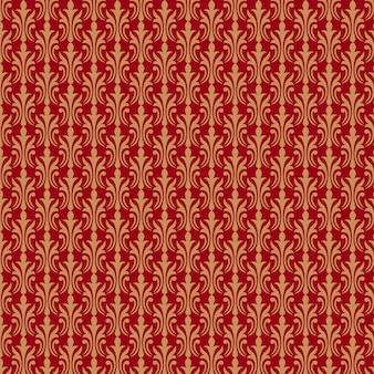 Golden pattern on red background