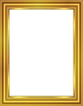 Golden photo frame picture design