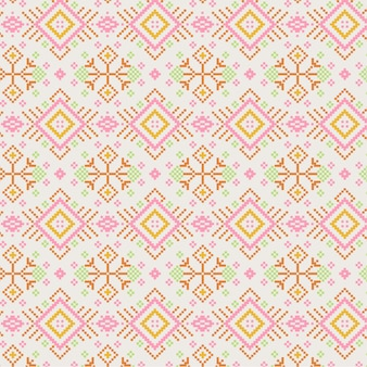 Golden pink songket pattern