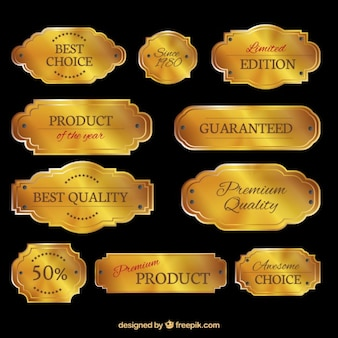 Golden plates collection