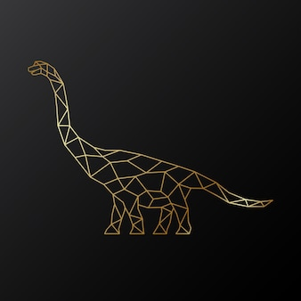 Золотой многоугольный динозавр брахиозавр