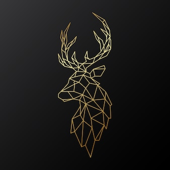 Golden polygonal deer.
