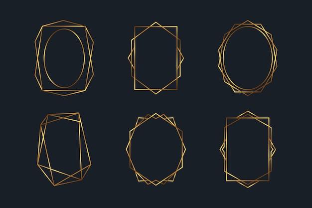 Golden polygonal frame collection