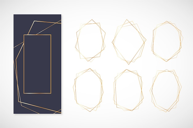 Golden polygonal frame pack
