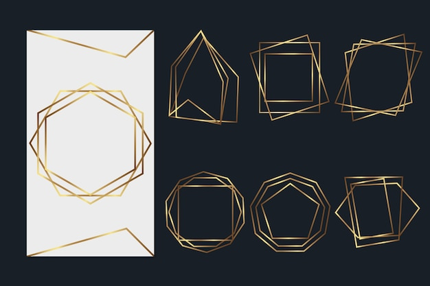 Golden polygonal frame pack