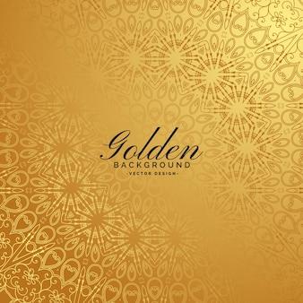 Golden premium background with pattern design