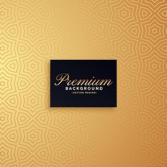 Golden premium pattern background design
