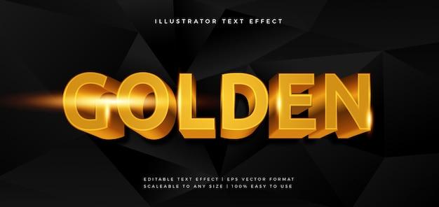 Эффект шрифта в стиле текста golden premium
