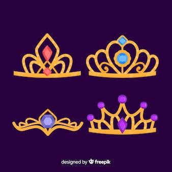 Golden princess tiara collection