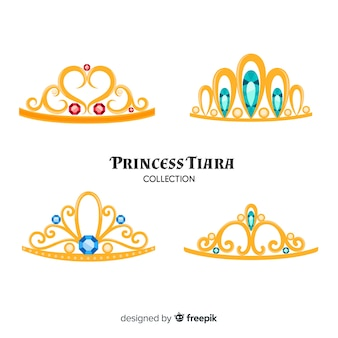 Golden princess tiara collection