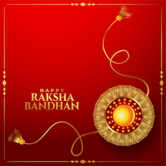 Golden rakhi background for rakhsha bandhan festival