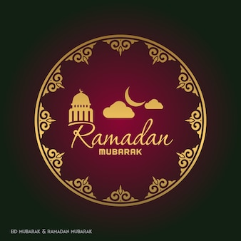 Golden ramadan decorative background