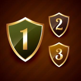 Golden ranking label badge